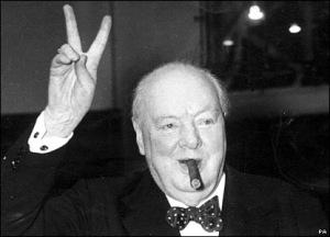 Winston-Churchill-Flashing-Victory-Sign
