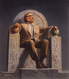 230px-Isaac_Asimov_on_Throne